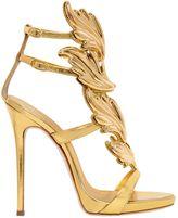 Giuseppe Zanotti Design 120mm Leaf Mirror Leather Sandals