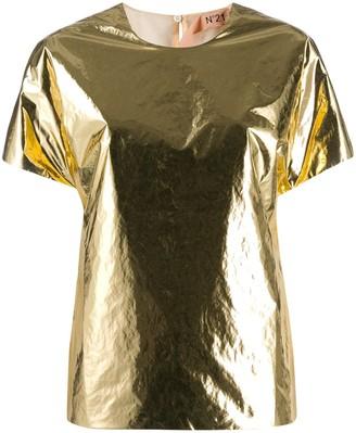 No.21 metallic T-shirt