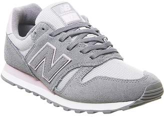 New Balance 373vi Trainers Gunmental Oxygen Pink