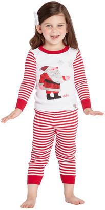 Intimo Sleep Bottoms PR009 - Eric Carle Santa White Pajama Set - Infant