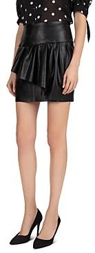 The Kooples Sky Fancy Ruffled Faux-Leather Skirt