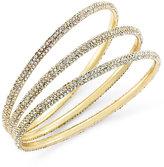 ABS by Allen Schwartz Bracelet Set, Gold-Tone Pave Bangle Bracelets