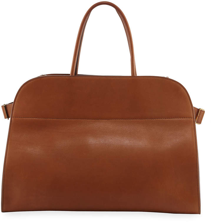 8eabe5682d Margaux 17 Smooth Saddle Leather Tote Bag