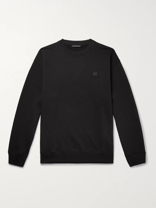 Acne Studios Oversized Logo-Appliqued Loopback Cotton-Jersey Sweatshirt