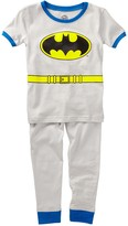 Intimo Batman Grey Short Sleeve Top and Pant Cotton Tight Fit Set (Baby Boys)