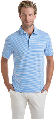Vineyard Vines Winstead Stripe Sankaty Performance Polo
