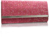 ASOS Glitter and Star Bar Hard Clutch Bag