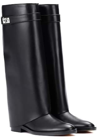 Givenchy Pant Shark Lock leather boots