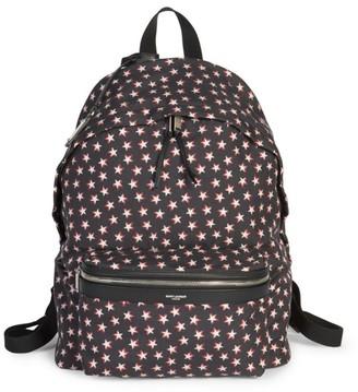 Saint Laurent City Star-Print Backpack