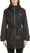 Burberry Knighton Logo Patch Hooded Raincoat