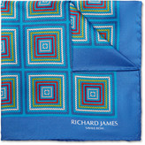 Richard James - Printed Silk-twill Pocket Square