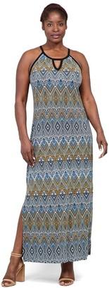 M&Co Izabel Curve aztec print maxi dress