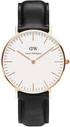 Daniel Wellington Sheffield Classic 36mm Leather Watch