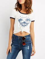 Charlotte Russe Girl Talk & Sunsets Graphic Tee