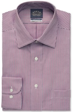 Eagle Men's Regular-Fit Non-Iron Stretch Collar Wine Dress Shirt