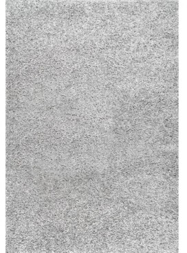 "nuLoom Easy Shag Contemporary Marleen Solid Silver 6'7"" x 9' Area Rug"