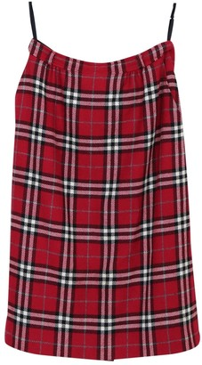 Burberry Red Wool Skirt for Women Vintage