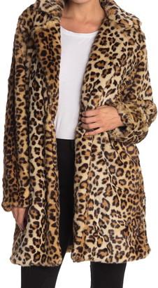 Blanknyc Denim Faux Fur Leopard Coat