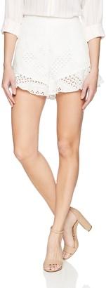 BCBGMAXAZRIA Women's Janel Cotton Eyelet Short