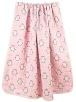 Organic Dream Baby Muslin Swaddle Blanket - Oversized 47in x 47in - 8 Layers' Ultra Soft - With a Flower Bib Bonus (Pink Penguin) by Gofriendly