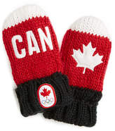 HBC Canadian Olympic Team Collection Infant Snow Top Red Mittens