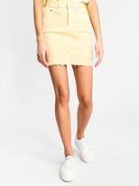Tommy Hilfiger Short Denim Skirt in French Vanilla Yellow