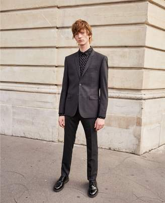 The Kooples Slim-fit grey suit trousers lined with wool