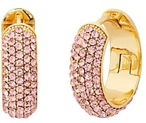 Kate Spade Candy Drops Pave Huggie Hoop Earrings