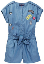Andy & Evan Denim Jumper with Patches (Toddler & Little Girls)
