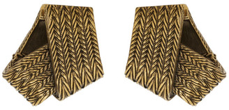 Balenciaga Gold Mesh Earrings