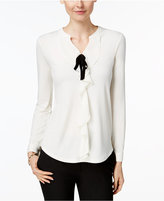 Charter Club Ruffled Bow Top, Only at Macys
