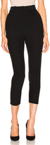 Alexander McQueen High Waist Skinny Trousers in Black.