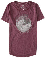 Aeropostale Womens Free State East Coast Graphic T Shirt Purple
