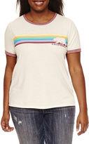 Freeze Short Sleeve Burnout Ringer Crew Neck Graphic T-Shirt
