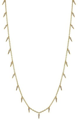 Sydney Evan 14k Yellow Gold & Diamond Small Fringe Necklace