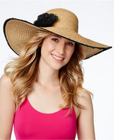Nine West Fringe Floral Super Floppy Hat