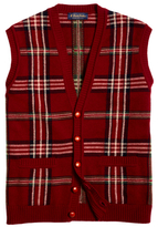 Brooks Brothers Saxxon Wool Reserve Signature Tartan Button-Front Vest