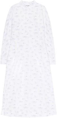 Ganni Printed Cotton Poplin Midi Dress