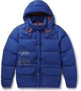 Junya Watanabe + North Face Canyon Cotton-blend Down Jacket - Royal blue