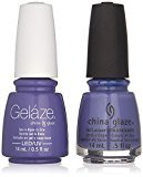China Glaze Gelaze Tips and Toes Nail Polish, What a Pansy, 2 Count