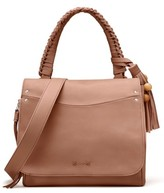 Elizabeth and James Trapeze Leather Top Handle Satchel - Brown