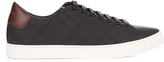 Burberry Albert perforated-check low-top leather trainers
