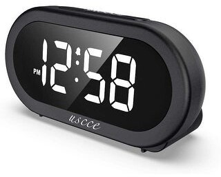 Etcbuys LED Digital Alarm Clock with Snooze Adjustable Volume with 5 Sounds