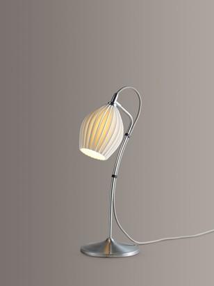 Original BTC Fin Ceramic Table Lamp, Satin Chrome