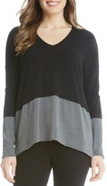 Karen Kane V-Neck Color Block Sweater