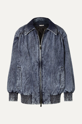 Miu Miu Oversized Denim Jacket - Blue
