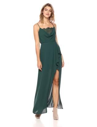 BCBGMAXAZRIA Azria Women's Lace-Trimmed Blouson Gown