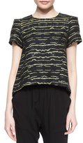Marissa Webb Laurette Short-Sleeve Printed Top