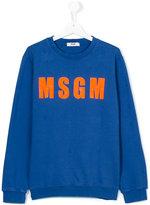 MSGM logo sweatshirt - kids - Cotton - 14 yrs