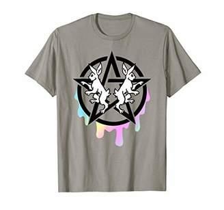 Goth Pastel Rabbits & Dripping Pentagram T-Shirt